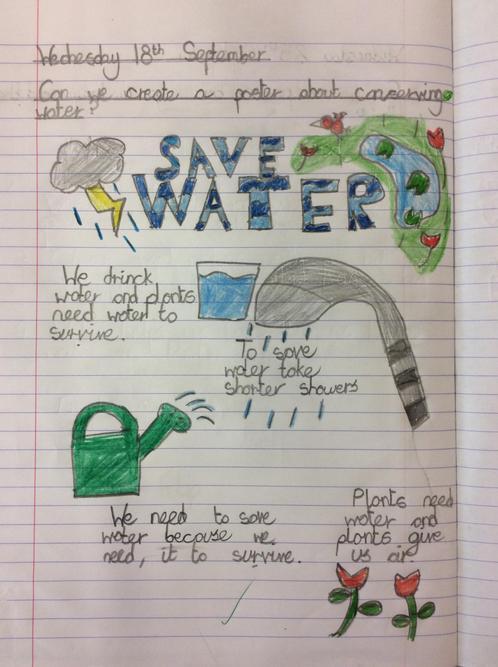Filip's 'saving water' poster