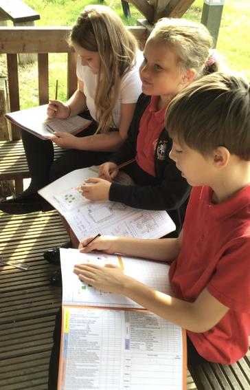 4FD enjoyed learning about place value in the Alfresco area.