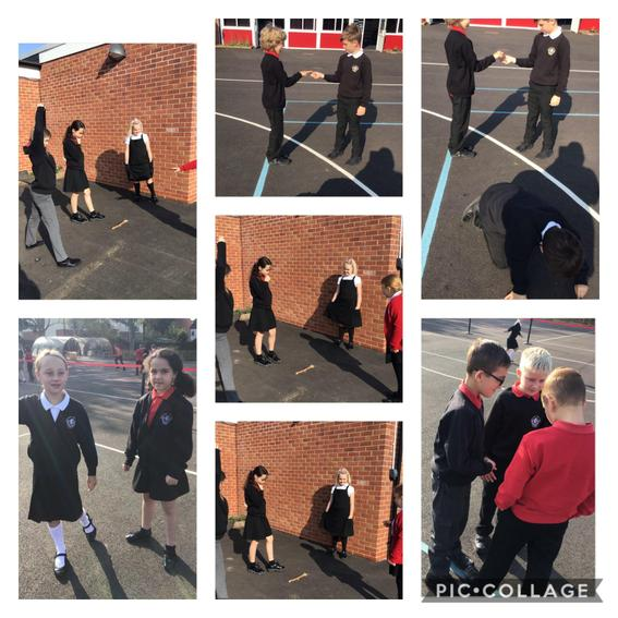 Pupils re-enacted what had happened so far in their Egyptology book.