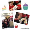 Little Red Riding Hood baking fairy cakes for grandma