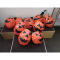 KS1 Papier-mâché pumpkins