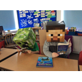 Minecraft characters enjoying their books