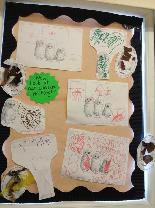 Owl Babies writing