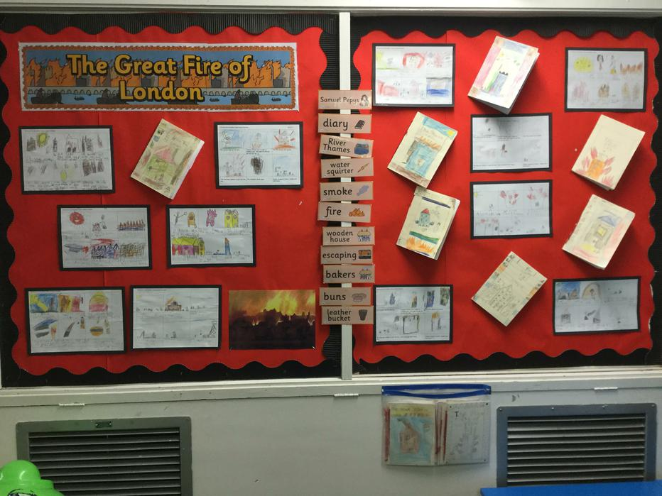 Information books about The Great Fire of London.