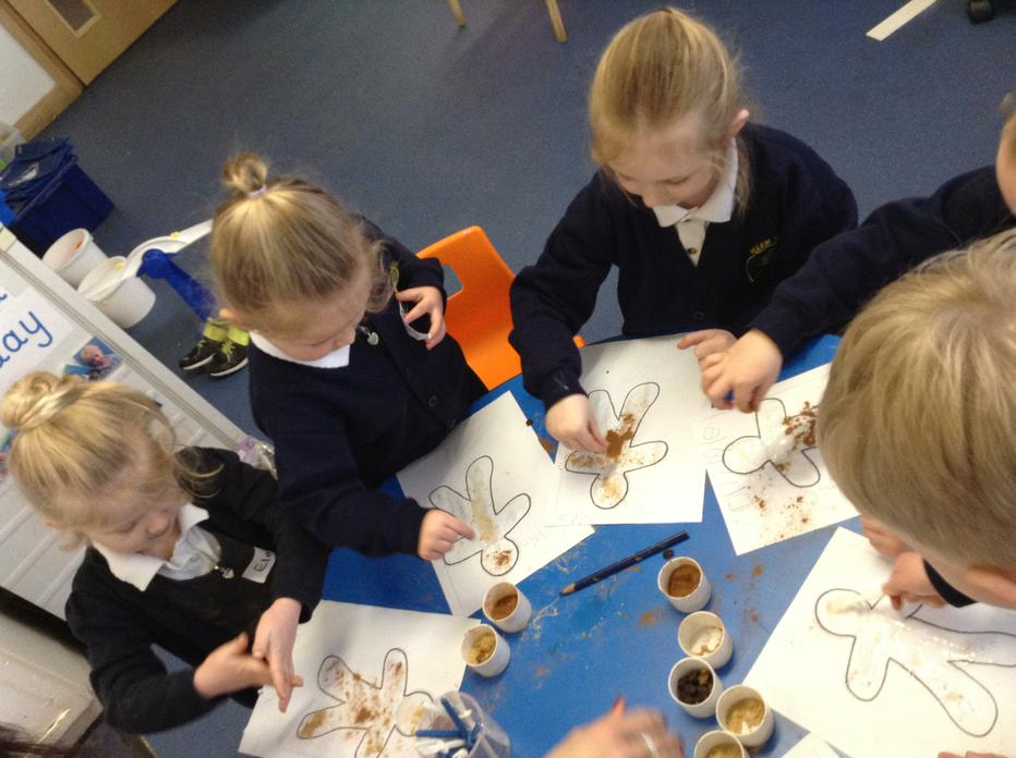 Decorating a smelly gingerbread man