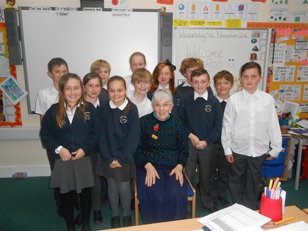 Visit to Cedar Class from Rev Ros Murphy