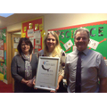 PSQM Award arrives in school