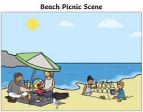 Beach Party Scene
