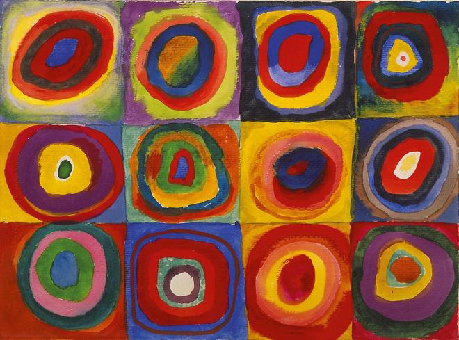 Colour Study: Squares with Concentric Circles 1913 - Kandinsky