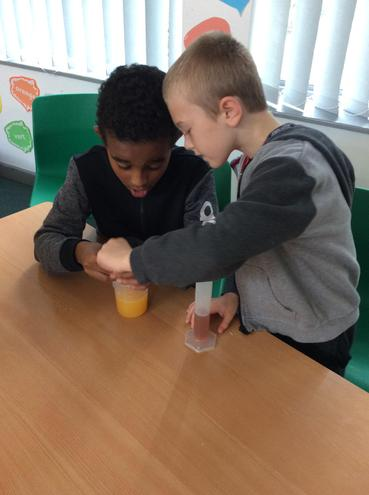 We investigated which liquids floated and sunk!