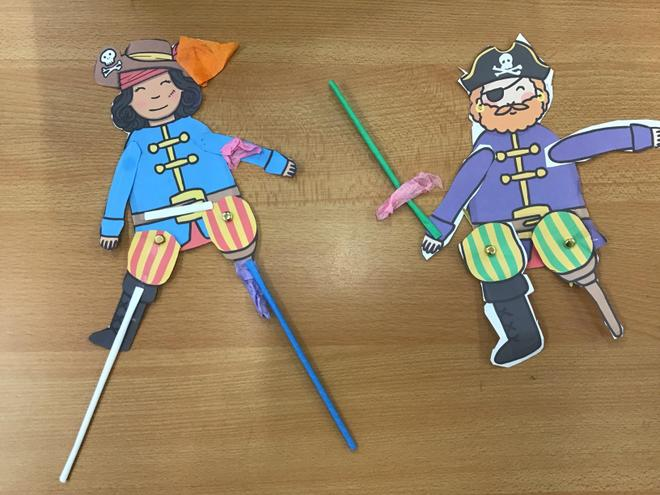 In DT we made split-pin moving pirates!