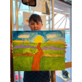 Jesse's amazing landscape painting!