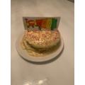 A delicious train cake