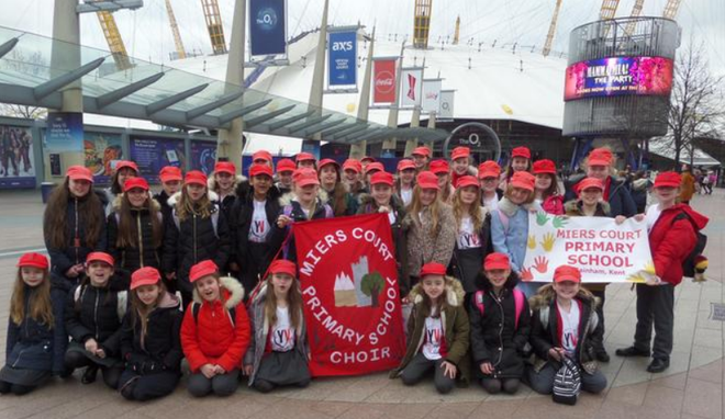 The choir at the O2 Arena for Young Voices
