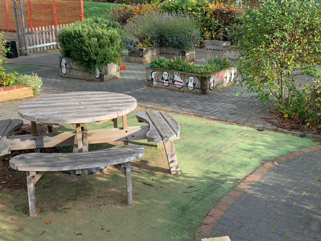 Mrs  Kerr's garden
