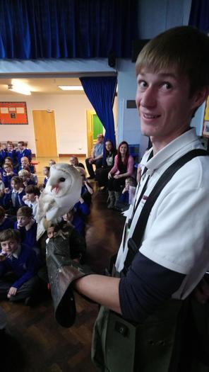 Sky The Barn Owl (& Liam)