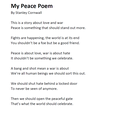 "Stanley Cornwall - ""My Peace Poem"""