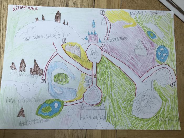 Wonderful theme park map by Josie.