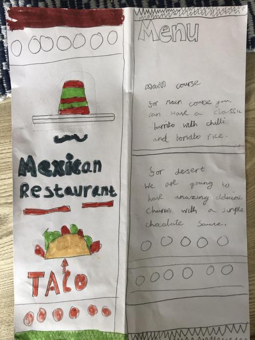 Hamish's Mexican Menu