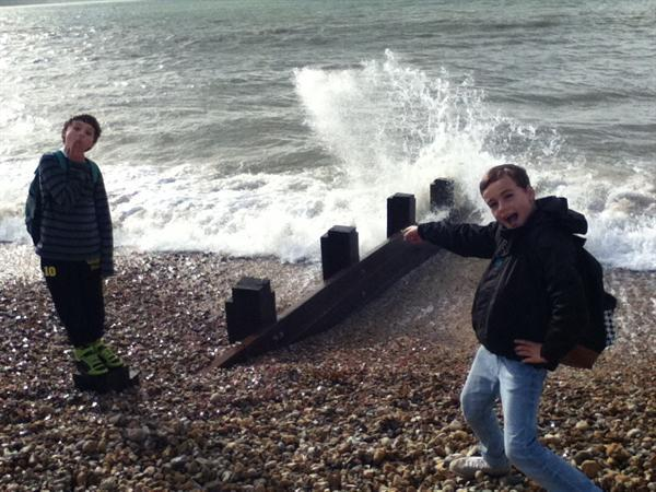 Checking out the coastal defences