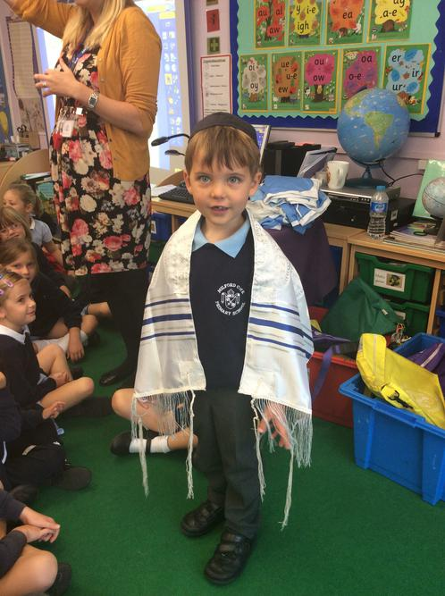 Special Jewish clothing - Prayer Shawl and Kippah