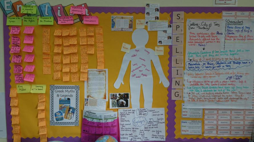 Y5/6 explored a variety of Greek Myths in English.