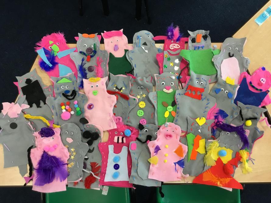 Class 5's Puppets