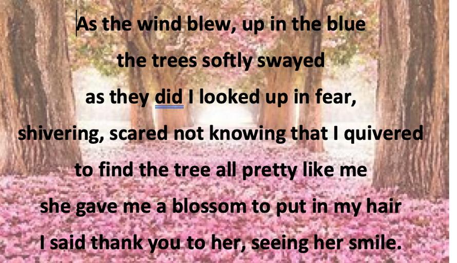 Elsie's Tree Poem
