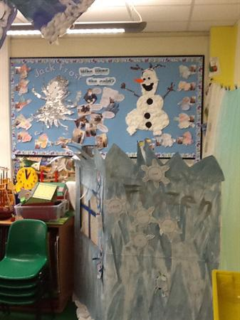 Our frozen ice palace role play area