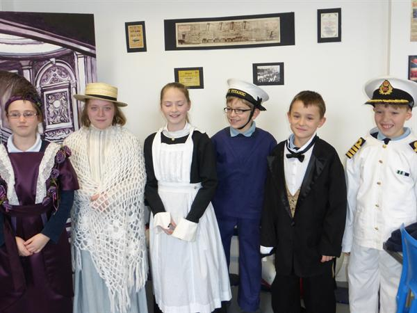 Pupils dress up to help tell the tragic story.