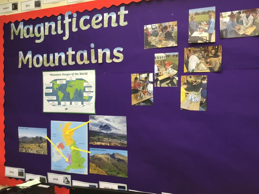 Year 3 and 4 have been studying mountains