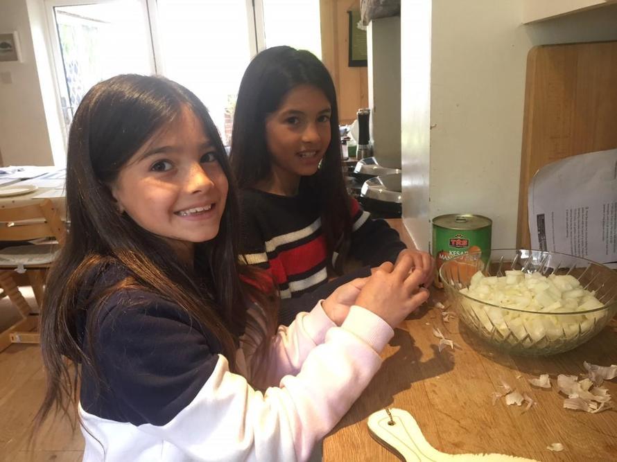 Zara busy making a Pakistani meal