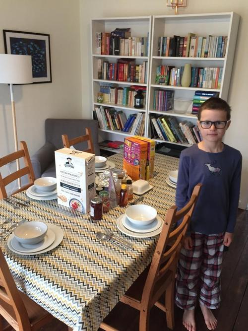 Daniel made a surprise breakfast for Mum and Dad