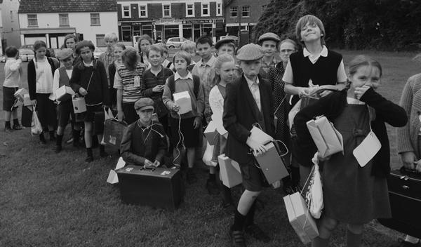 Class 10 await their billets.