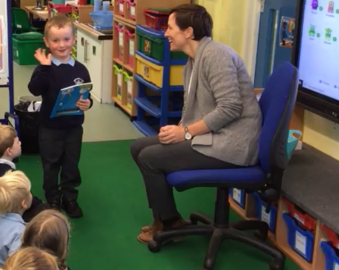 Miss Crawford came into our classes to present us with a very special book