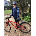 Daniel has cycled 26 laps of his block