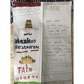 Hamish's Mexican Menu - Sounds delicious!