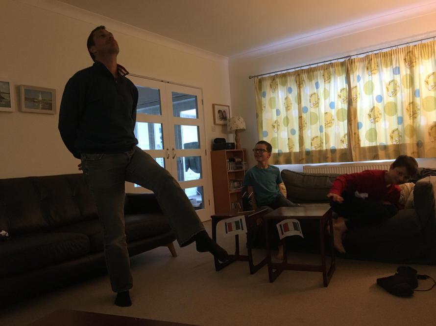 Teaching Dad to dance