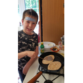 Warming those pittas - nice one George!
