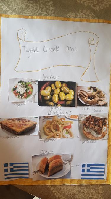 George's Greek menu