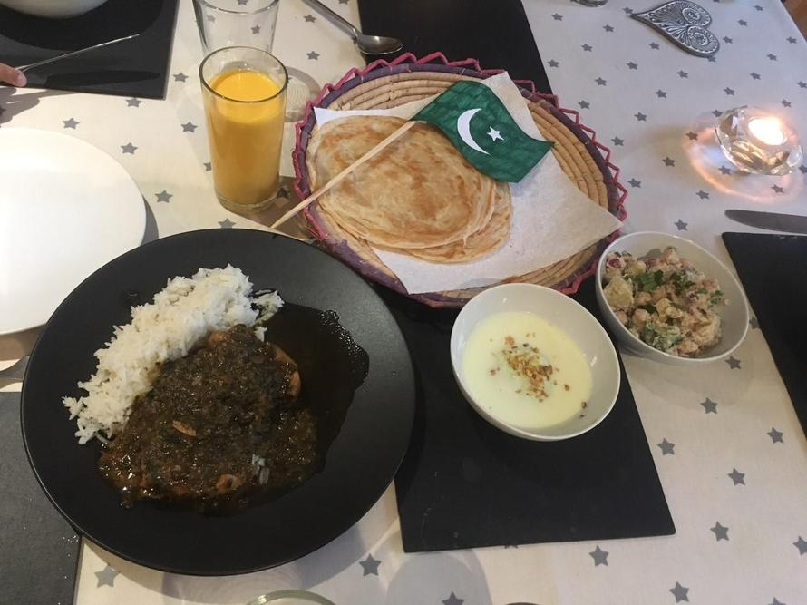 Zara's delicious Pakistani meal