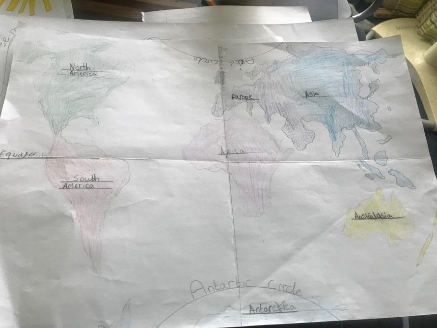 Frances's global work - a map of the world
