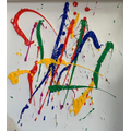 Violet's Jackson Pollock Artwork