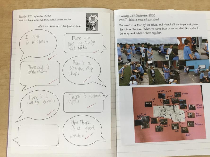 Year 1 and 2 have been finding out about where they live