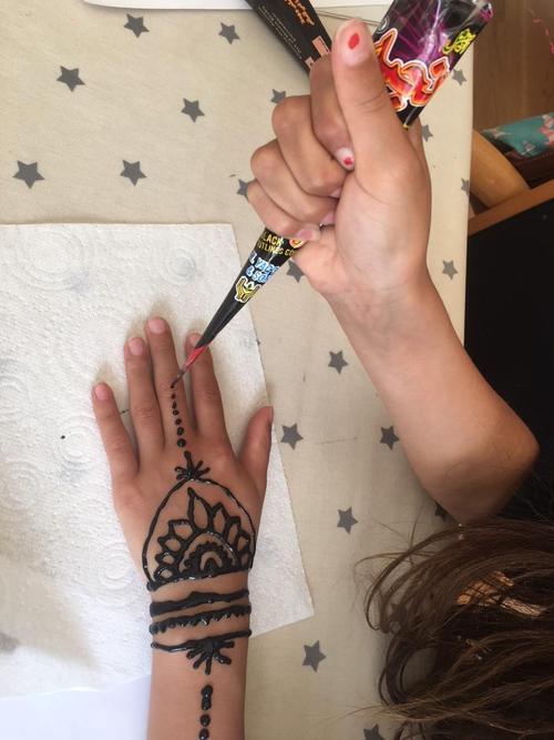 Zara exploring henna tattoos