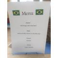 Flo & Lucy's Brazilian menu