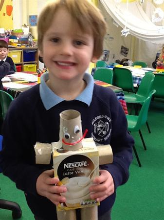 I have used cylinders for the arms and legs.