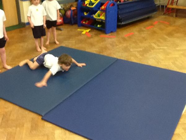 In P.E. we have been moving like arctic animals.