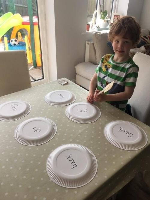 Splat the tricky word game