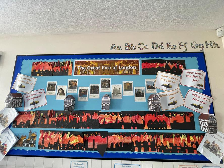 Year 1/2 loved learning all about The Great Fire of London